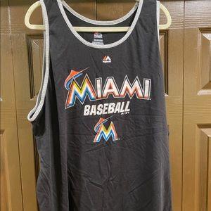 Majestic Miami Baseball Tank Top Men's Size XXL